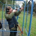 Clay Pigeon. The Commodore takes aim!
