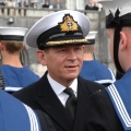 CDRE Jake Moores Royal Navy Inspects The Guard From HMS Raleigh