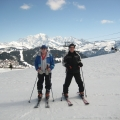 Cdr Robin Mills Lt RN (Rtd) recently met Mid John Wells Cole RN (Rtd) whilst skiing in France