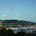 The Red Arrows over the Dart. Regatta 2009.