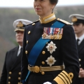 The Princess Royal takes the salute during the Passing out Parade December 2012