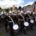 The band of HM Royal Marines Plymouth get ready to troop
