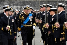 Royal Salute on Parade at BRNC