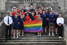 Officer Cadets Complete a  Run for Charity