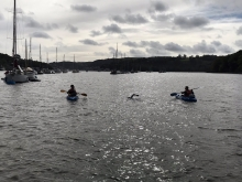 Naval Officer's 1O Mile Swim For Charity